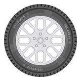 τρισδιάστατο ανασκόπησης λευκό ροδών αυτοκινήτων εικόνα επίσης corel σύρετε το διάνυσμα απεικόνισης Στοκ φωτογραφίες με δικαίωμα ελεύθερης χρήσης