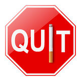 τρισδιάστατο αντι εγκαταλειμμένο εικόνα κάπνισμα Στοκ φωτογραφίες με δικαίωμα ελεύθερης χρήσης