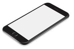 τρισδιάστατο απεικόνισης ρεαλιστικό πρότυπο smartphone προοπτικής μαύρο διανυσματική απεικόνιση