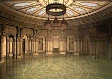 τρισδιάστατο ασιατικό παλάτι απεικόνισης Στοκ φωτογραφίες με δικαίωμα ελεύθερης χρήσης