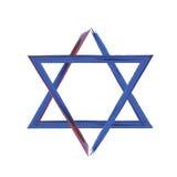 τρισδιάστατο αστέρι απεικόνισης του Δαβίδ Στοκ εικόνες με δικαίωμα ελεύθερης χρήσης
