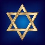 τρισδιάστατο αστέρι απεικόνισης του Δαβίδ Στοκ Εικόνες