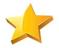 τρισδιάστατο αστέρι Στοκ Εικόνες
