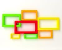 τρισδιάστατο αφηρημένο γεωμετρικό σχέδιο Στοκ φωτογραφία με δικαίωμα ελεύθερης χρήσης
