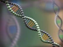 τρισδιάστατο αφηρημένο μοριακό υπόβαθρο DNA Στοκ Φωτογραφία