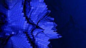 τρισδιάστατο αφηρημένο μπλε πλαστικό υπόβαθρο πλεγμάτων Στοκ Εικόνες