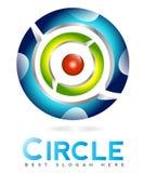 τρισδιάστατο αφηρημένο λογότυπο κύκλων Στοκ φωτογραφίες με δικαίωμα ελεύθερης χρήσης
