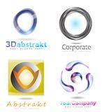 τρισδιάστατο αφηρημένο σύνολο λογότυπων κύκλων Στοκ φωτογραφία με δικαίωμα ελεύθερης χρήσης