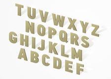 τρισδιάστατο αλφάβητο πηγών Στοκ εικόνα με δικαίωμα ελεύθερης χρήσης