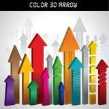 τρισδιάστατο βέλος με πολλά χρώματα Στοκ φωτογραφία με δικαίωμα ελεύθερης χρήσης