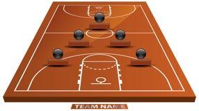τρισδιάστατο γήπεδο μπάσκετ Στοκ εικόνες με δικαίωμα ελεύθερης χρήσης