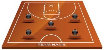 τρισδιάστατο γήπεδο μπάσκετ Στοκ εικόνα με δικαίωμα ελεύθερης χρήσης