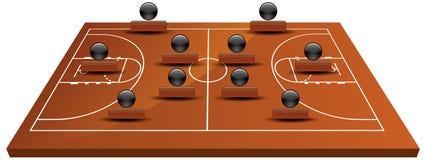 τρισδιάστατο γήπεδο μπάσκετ ελεύθερη απεικόνιση δικαιώματος