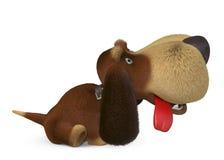τρισδιάστατο γελοίο σκυλί Στοκ Φωτογραφία
