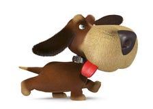 τρισδιάστατο γελοίο σκυλί Στοκ φωτογραφία με δικαίωμα ελεύθερης χρήσης