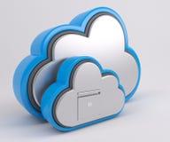 τρισδιάστατο εικονίδιο Drive σύννεφων Στοκ φωτογραφία με δικαίωμα ελεύθερης χρήσης