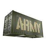 τρισδιάστατο εμπορευματοκιβώτιο στρατού απόδοσης διανυσματική απεικόνιση