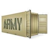 τρισδιάστατο εμπορευματοκιβώτιο στρατού απόδοσης απεικόνιση αποθεμάτων