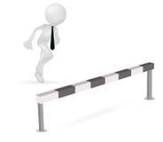 τρισδιάστατο επιχειρησιακό άτομο που τρέχει για να πηδήσει ελεύθερη απεικόνιση δικαιώματος