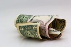 τρισδιάστατο λευκό εικόνας δολαρίων ανασκόπησης Στοκ εικόνες με δικαίωμα ελεύθερης χρήσης