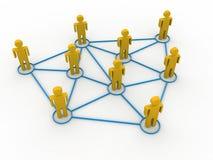τρισδιάστατο λευκό επιχειρησιακών απομονωμένο έννοια δικτύων στοκ εικόνα με δικαίωμα ελεύθερης χρήσης