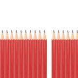 τρισδιάστατο λευκό μολυβιών μολύβδου εικόνας ανασκόπησης Στοκ Εικόνες