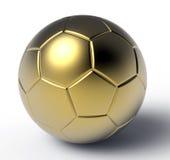 τρισδιάστατο λευκό ποδοσφαίρου σφαιρών χρυσό απομονωμένο εικόνα Στοκ φωτογραφία με δικαίωμα ελεύθερης χρήσης