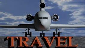τρισδιάστατο λευκό ταξιδιού απεικόνισης ανασκόπησης αεροπλάνων Στοκ εικόνες με δικαίωμα ελεύθερης χρήσης