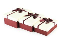 τρισδιάστατο λευκό δώρων boxe Στοκ Φωτογραφίες