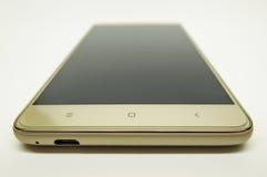 τρισδιάστατο λευκό smartphone εικόνας ανασκόπησης Στοκ Εικόνες