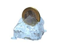 τρισδιάστατο ευρο- νόμισμα Στοκ Εικόνα