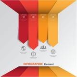τρισδιάστατο ελάχιστο infographics διάνυσμα Στοκ φωτογραφία με δικαίωμα ελεύθερης χρήσης