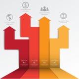 τρισδιάστατο ελάχιστο infographics διάνυσμα Στοκ Εικόνα