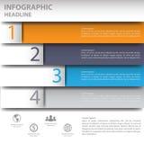 τρισδιάστατο ελάχιστο infographics διάνυσμα Στοκ Εικόνες