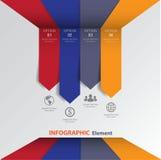 τρισδιάστατο ελάχιστο infographics διάνυσμα Στοκ εικόνες με δικαίωμα ελεύθερης χρήσης
