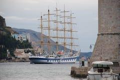 τρισδιάστατο ηλιοβασίλεμα σκαφών ναυσιπλοΐας τοπίων Στοκ φωτογραφία με δικαίωμα ελεύθερης χρήσης