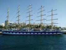 τρισδιάστατο ηλιοβασίλεμα σκαφών ναυσιπλοΐας τοπίων Στοκ Εικόνες