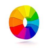 Τρισδιάστατο διάγραμμα χρώματος Στοκ Εικόνες