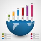 τρισδιάστατο διαγραμμάτων πρότυπο σχεδίου ύφους infographic Στοκ εικόνα με δικαίωμα ελεύθερης χρήσης