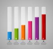 τρισδιάστατο διαγραμμάτων πρότυπο σχεδίου ύφους infographic Στοκ Εικόνες