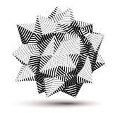τρισδιάστατο διανυσματικό αφηρημένο αντικείμενο σχεδίου, polygonal περίπλοκος αριθμός απεικόνιση αποθεμάτων