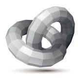 τρισδιάστατο διανυσματικό αφηρημένο αντικείμενο σχεδίου, polygonal περίπλοκος αριθμός, απεικόνιση αποθεμάτων