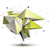 τρισδιάστατο διανυσματικό αφηρημένο αντικείμενο σχεδίου, polygonal Στοκ Εικόνες