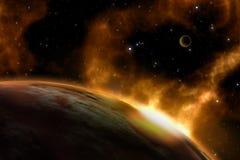 τρισδιάστατο διαστημικό υπόβαθρο Στοκ φωτογραφίες με δικαίωμα ελεύθερης χρήσης