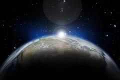 τρισδιάστατο διαστημικό υπόβαθρο Στοκ Φωτογραφίες