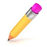 τρισδιάστατο κίτρινο μολύβι Στοκ εικόνες με δικαίωμα ελεύθερης χρήσης