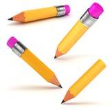 τρισδιάστατο κίτρινο μολύβι Στοκ Εικόνες
