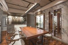 τρισδιάστατο καθιστικό ύφους απόδοσης κινεζικό με τη συμπαθητική διακόσμηση Στοκ φωτογραφία με δικαίωμα ελεύθερης χρήσης
