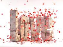 τρισδιάστατο κείμενο καρτών αγάπης Στοκ φωτογραφία με δικαίωμα ελεύθερης χρήσης