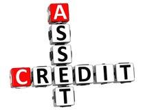 τρισδιάστατο κείμενο πιστωτικών σταυρόλεξων προτερημάτων στοκ φωτογραφία με δικαίωμα ελεύθερης χρήσης